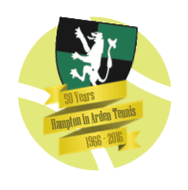 tennis club 50 years old logo